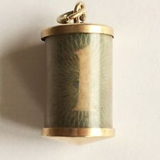 Vintage Antique 9ct Gold £1 One Pound Note Cylinder Charm Full English  9ct 375