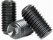 Set screws, Allen, Knurled cup point, Alloy steel black oxide finish free ship