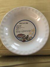 Vintage Pecan Pie Plate With Recipe
