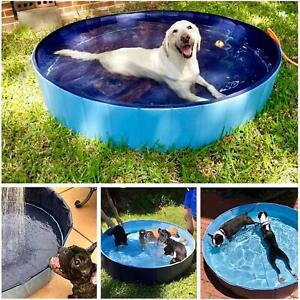 Dog Paddling Pool Puppy Swimming Shower Bathing Bathtub Foldable Pet Wash