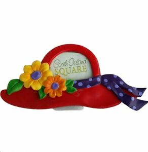 Red Hat Lady Collection Frame Table Frame Tropical Island Flowers Polka Dot Bows