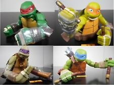 NEW SET! NICKELODEON TMNT VINYL BANK LEO RAPH MIKEY DON PIGGY BANK LOT 3-1,2,3,4