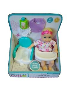 """Honestly Cute 8"""" My Lil' Baby Feed & Go Set NEW"""