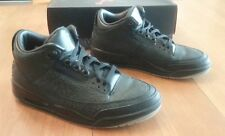 AIR JORDAN 3 III Shoes Size 10 Men Black Flip Athletic