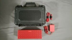 Jawbone Big Jambox, Brick Red w/ Rare Discontinued Audioactiv Pelican Style Case