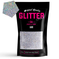 Silver Holographic Premium Glitter Multi Purpose Dust Powder 100g / 3.5oz