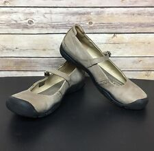 KEEN Womens 10 Delancey Beige Mary Jane Nubuck Leather Contour Arch