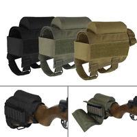 Rifle Shotgun Buttstock Ammo Pouch Shell Cartridge Holder Cheek Rest Gun Stock