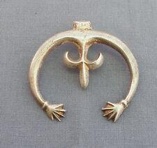 Vintage Silver Native American Naja with Hands fleur de lis Pendant