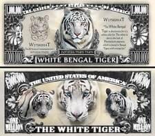 TIGRE BLANC du BENGALE - BILLET MILLION DOLLAR US! COLLECTION Animal Félin Tiger