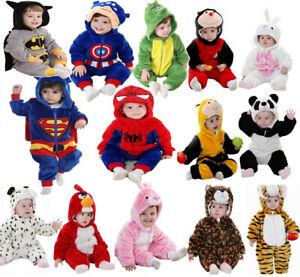 Baby Newborn Toddler Boy Girl Animal Romper Outfit Halloween Fancy Dress Costume