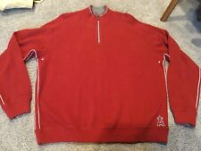 Tommy Bahama Angels Large Red 1/4 Zip Sweater