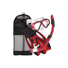U.S. Divers Adult Cozumel Mask, Seabreeze Ii Snorkel, ProFlex Fins Gear Bag Set