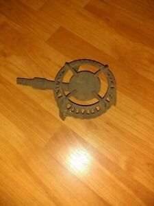 Antique Stove Grate Burner Cover Metal 8 Inches Long 3 Inches Tall
