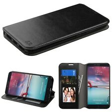 Black MyJacket Wallet Phone Protector Cover Case for ZTE Z981 Zmax Pro