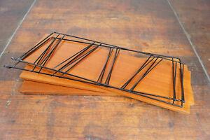 String Shelf 60er Bookcase Vintage Walnut Wall Shelf Danish Shelf System 60s