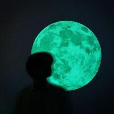 que brilla intensamente Moon EN LA OSCURIDAD Decoración Pared Niños Adhesivos