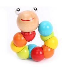 Wooden Twisty Worm Multicolour Fidget / Fiddle / Stress Toy - Autism & ADHD