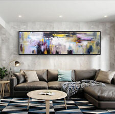 VV721# Large Hand-painted oil painting Abstract Color art No Frame 20x60in