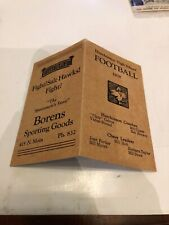 1938 Hutchinson High School Football program Vs El Dorado mini size pamphlet