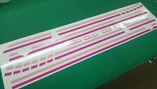 Fiat 500 595 pink girly Side Stripes Graphics Decals Stickers Vinyls panel fit