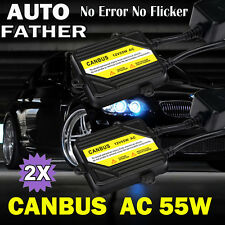 AC Canbus 55W SLIM BALLAST Error Free HID Conversion KIT For 9006 H4 9005 H7 H11