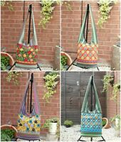 Hippy Boho Bag Cotton Summer Beach Holiday Festival Bag Carnival Embroidered Bag