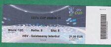 Orig.Ticket   UEFA Cup  2008/09  HAMBURGER SV - GALATASARAY ISTANBUL  1/8 FINALE