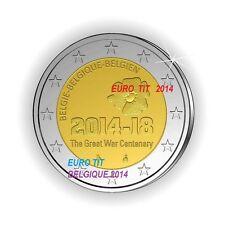 2 €    BELGIQUE   COMMEMORATIVE    2014    1  x  PIECE          disponible