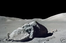 Photograph NASA Last Apollo 17  Mission  Astronaut Schmitt Moonwalk 1972  11x17