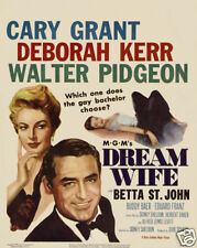 Dream wife Cary Grant vintage movie poster print