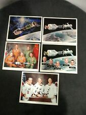 Lot of 5 NASA Apollo-Soyuz Project Pictures all with JCSL #