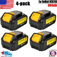 4X For DeWalt 20V 20 Volt Max XR 6.0AH Lithium Ion Battery Pack DCB204-2 DCB206