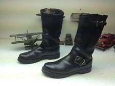 MADE IN USA BLACK LEATHER ENGINEER MOTORCYCLE BOOTS SIZE 8.5 D