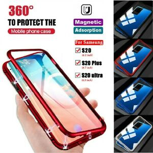 For Samsung S20 FE S20+ Ultra 5G 360° Full Cover Magnetic Absorption Metal Case