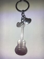 Guitar Gift Dad, Grandad, Uncle, Daddy etc Keyring choose family name FREEPOST