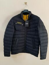 Barbour Men's Chain Quilted Baffle Jacket, Black Small New With Tags RRP £159