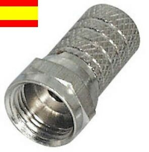 conector F macho de torsion para cable coaxial RF RG-6 TV Satelite, TDT...etc