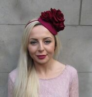 Details about  /Double Green Peach Rose Orchid Flower Hair Clip Fascinator Rockabilly 1950s 3604