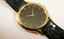 Lassale by Seiko Gold Tone Metal Black Dial 5A54-0380 Sample Watch NON-WORKING