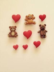 DRESS IT UP children's Valentine Love  Romantic Hug Me Teddies and Hearts Craft