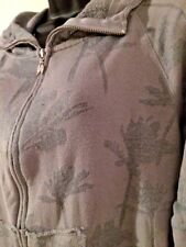 Victoria's Secret Gray Palm Trees Lightweight Distressed Long Sleeve Hoodie S