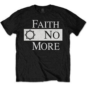 Faith No More 'Classic Logo V.2' (Black) T-Shirt - NEW & OFFICIAL!