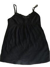 Delia's Size S Black Adjustable Straps Lace Front Tank Top EUC