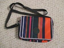 Kipling Delphine Jade stripe crossbody handbag EUC!