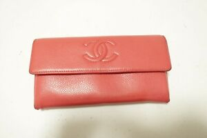 Authentic CHANEL Caviar Leather CC Long Wallet  #10281