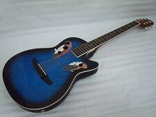Free Gig Bag 6 String Acoustic Electric Guitar, Round Back, Oval Back, Blueburst