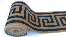 ANCIENNE BOBINE DE FRISE D'ORNEMENT EN TISSU LARGE à motif grec 15 mètres !