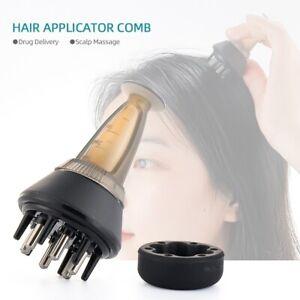 Scalp Applicator Liquid Guiding Hair Growth Comb Serum Oil Apply Head Massager