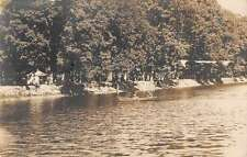 Pennsylvania ? Row Boat Waterfront Camp Real Photo Antique Postcard K60597